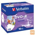MEDIJ DVD+R VERBATIM 10PK printable široke škatlice (43508)