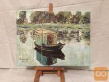 Umetniška slika Claude Monet, Čoln
