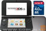 Nintendo 3DS XL srebrn + spominska kartica 4GB + napajalnik