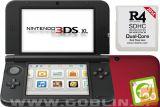 Nintendo 3DS XL rdeč + R4i SDHC v2014 + microSD 8GB + SD