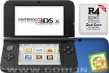 Nintendo 3DS XL moder + R4i SDHC v2014 + microSD 8GB + SD