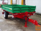 Leško 4T, Traktorska enoosna kiper prikolica