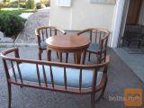 Bidermajer pohištvo miza, dva stola in dvosed