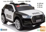 Policijski avto na akumulator Audi Q5, Bluetooth, daljinec
